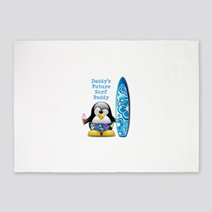 Daddy's Future Surf Buddy 5'x7'Area Rug